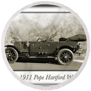 1911 Pope Hartford W Round Beach Towel