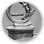 1912 Gobron-brillie 12 Cv Skiff Hood Ornament 2 Round Beach Towel