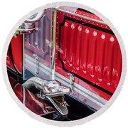 1912 Rolls-royce Silver Ghost Rothchild Et Fils Style Limousine Snake Horn -0711c Round Beach Towel