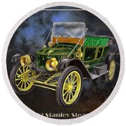 Stanley Steamer Round Beach Towel
