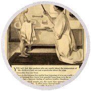 1913 - Proctor And Gamble - Ivory Soap Advertisement Round Beach Towel