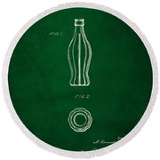 1915 Coca Cola Bottle Design Patent Art 4 Round Beach Towel