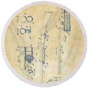 1915 Ithaca Shotgun Patent Vintage Round Beach Towel