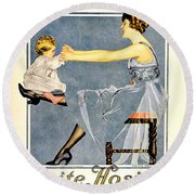 1918 - Luxite Hosiery Advertisement - Color Round Beach Towel