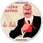 1918 - Wintergarten Poster - Roda Roda - Stephan Krotowski - Color Round Beach Towel