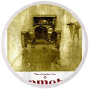 1918 - Hupmobile Automobile Advertisement - Color Round Beach Towel