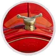 1919 Ford Volunteer Fire Truck Round Beach Towel