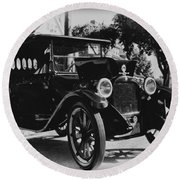 1920 Dodge Convertable Round Beach Towel