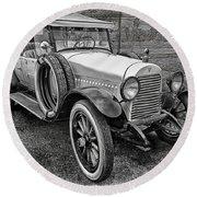 1921 Hudson-b-w Round Beach Towel
