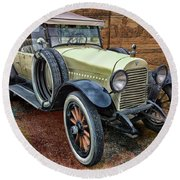 1921 Hudson-featured In Vehicle Enthusiasts And Comfortable Art And Photography And Textures Groups Round Beach Towel