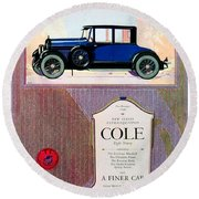 1922 - Cole 890 - Advertisement - Color Round Beach Towel
