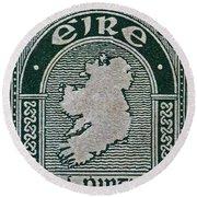 1922 Ireland Eire Stamp Round Beach Towel