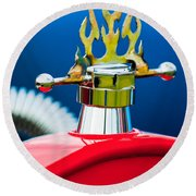 1923 Ford T-bucket Aftermarket Hood Ornament Round Beach Towel