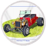 T Bucket Ford 1923 Round Beach Towel