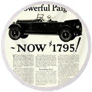 1924 - Paige Automobile Advertisement Round Beach Towel