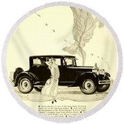 1924 - Rickenbacker Automobile Advertisement Round Beach Towel