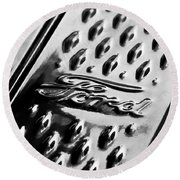 1924 Ford T Roadster Emblem -303bw Round Beach Towel