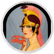 1924 - Theatre Magazine Cover - Color Round Beach Towel