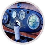 1925 Stutz Series 695h Speedway Six Torpedo Tail Speedster Dashboard Instruments Round Beach Towel