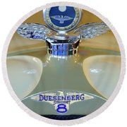 1926 Duesenberg Model A Boyce Motometer Round Beach Towel
