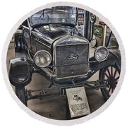 1926 Ford Model T Runabout Round Beach Towel by Douglas Barnard