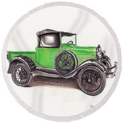 1926 Ford Truck Round Beach Towel