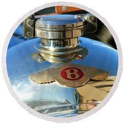 1927 Bentley Hood Ornament Round Beach Towel