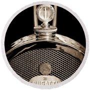 1927 Bugatti Replica Hood Ornament - Emblem Round Beach Towel