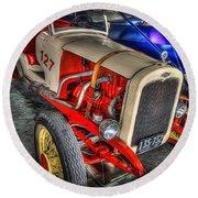 1927 Chevy Dirt Racer Round Beach Towel