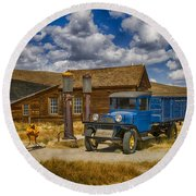 1927 Dodge Braham Bodie Ca Color Img 7299 Round Beach Towel