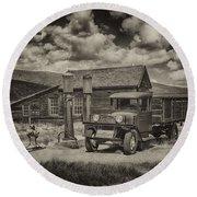 1927 Dodge Braham Bodie Ca Sepia Img 7299 Round Beach Towel