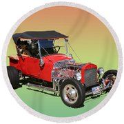 1927 Ford T Bucket Rag Top T Bucket Round Beach Towel