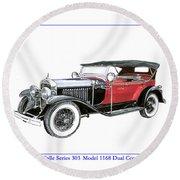 1927 La Salle Dual Cowl Phaeton Round Beach Towel