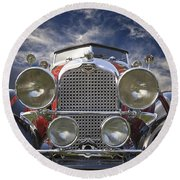 1928 Auburn Model 8-88 Speedster Round Beach Towel