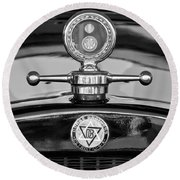 1928 Dodge Brothers Hood Ornament - Moto Meter Round Beach Towel