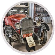 1928 Dodge Roadster Round Beach Towel