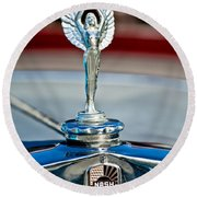 1928 Nash Coupe Hood Ornament 2 Round Beach Towel