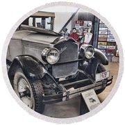 1928 Packard 526 Sedan Round Beach Towel