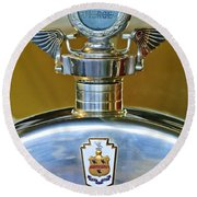 1928 Pierce-arrow Hood Ornament Round Beach Towel