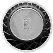 1928 Rolls-royce Spoke Wheel Round Beach Towel