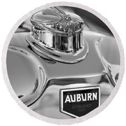 1929 Auburn 8-90 Speedster Hood Ornament 2 Round Beach Towel by Jill Reger