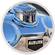 1929 Auburn 8-90 Speedster Hood Ornament Round Beach Towel
