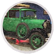 1929 Ford Model A By Liane Wright Round Beach Towel