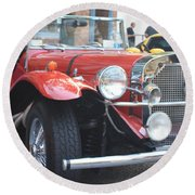1929 Mercedes Benz Front And Side View Round Beach Towel