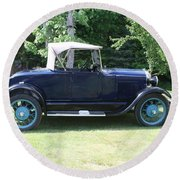 1929 Model-a Roadster 4 Round Beach Towel