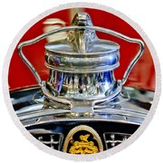 1929 Packard 8 Hood Ornament 2 Round Beach Towel