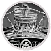 1929 Packard 8 Hood Ornament 4 Round Beach Towel
