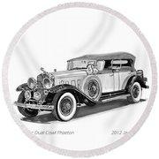 1931 Cadillac Phaeton Round Beach Towel