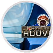 1930 Db Dodge Brothers Taillight Emblem -030c Round Beach Towel