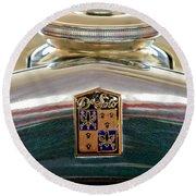 1930 Desoto K Hood Ornament Emblem Round Beach Towel